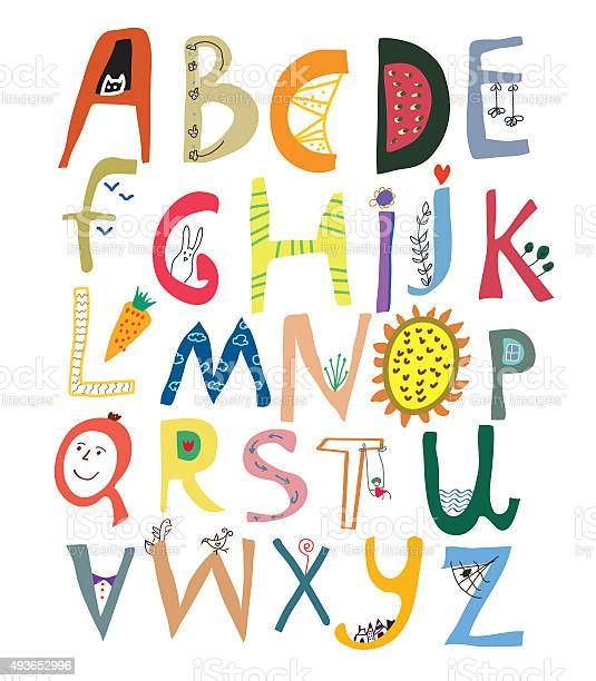 Funny alphabet for kids with faces vegetables flowers and animals vector id493652996?b=1&k=6&m=493652996&s=612x612&h=ibbohqo0ppioqnfi3ezk33qussaymolfmw8r logkp4=