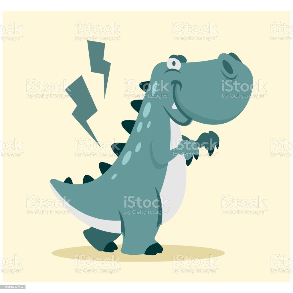 Ilustración De Divertido Y Lindo Pequeño Tiranosaurio Rex