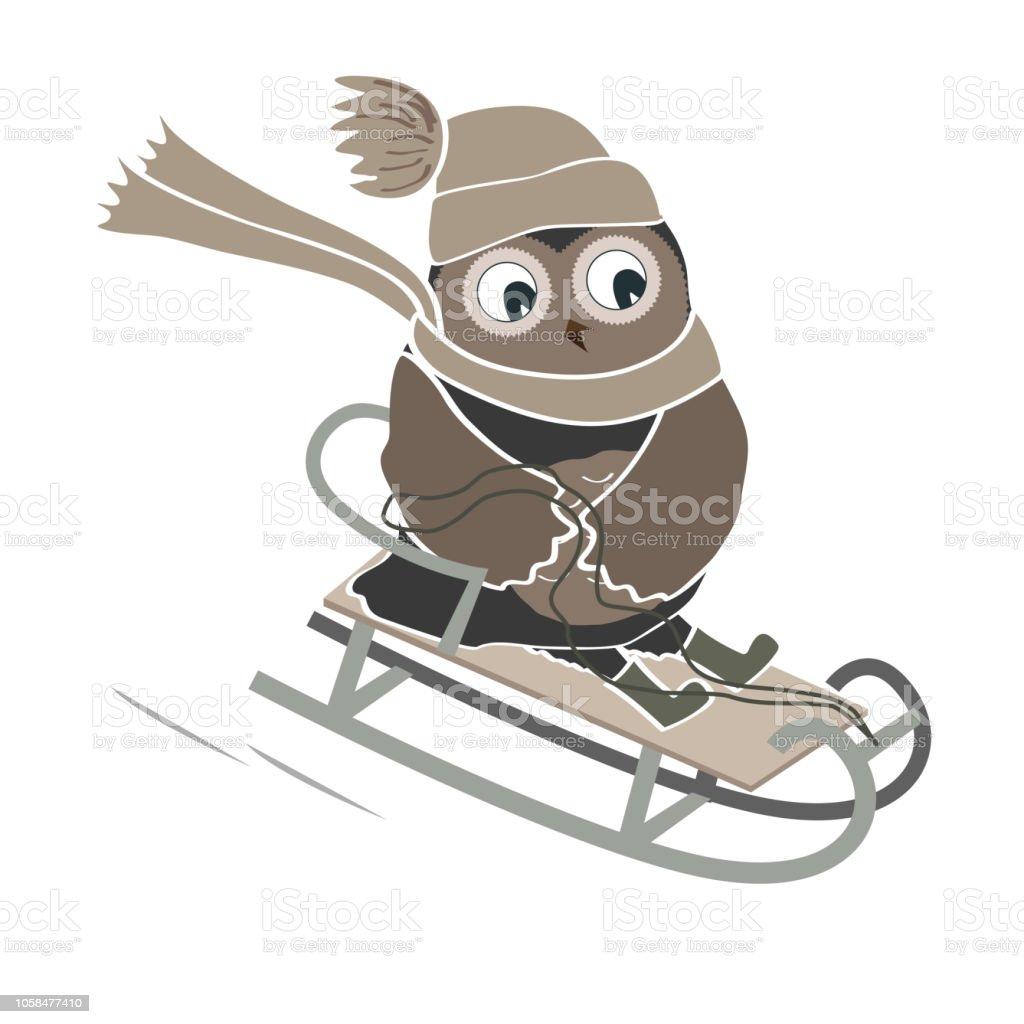 Lustige Cliparts Von Rodeln Cartoon Mann Stock Vektor Art und mehr Bilder  von Aktivitäten und Sport - iStock