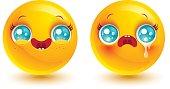 Funny and sad emoji