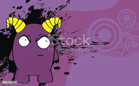 Funny Angry Monster Cartoon Expression Background - Stockowe grafiki wektorowe i więcej obrazów Ameryka Łacińska 965063500