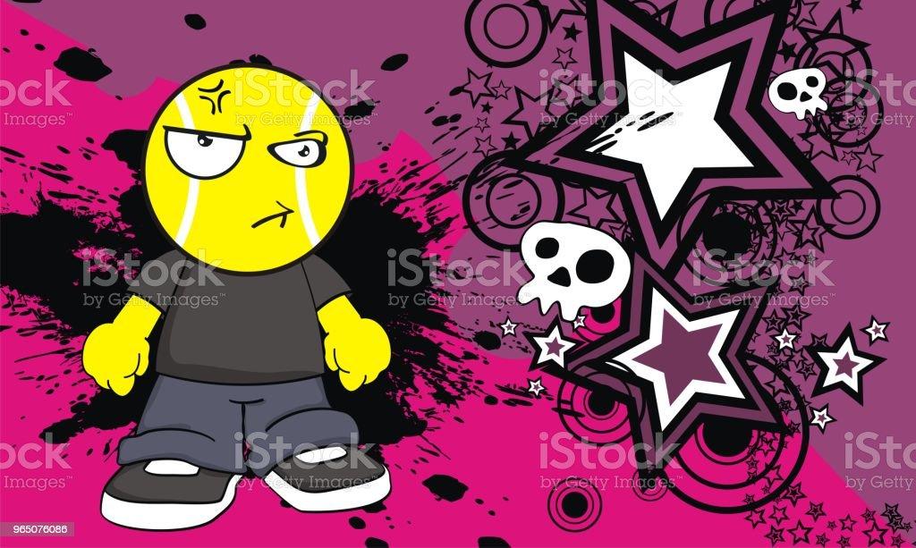 funny angry tennis head kid cartoon expression background funny angry tennis head kid cartoon expression background - stockowe grafiki wektorowe i więcej obrazów ameryka Łacińska royalty-free