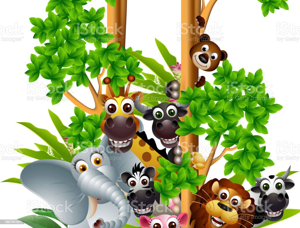 funny animal cartoon collection royalty-free funny animal cartoon collection stock vector art & more images of africa