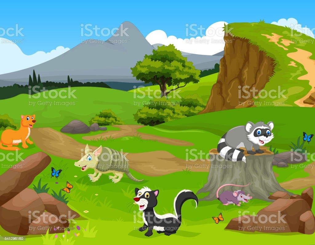 Illustrazione di formichiere marrone animale del mammifero