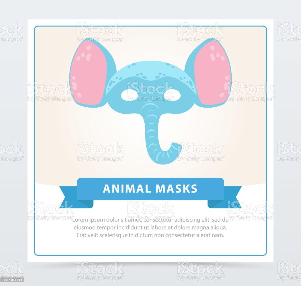 Animal drôle de tête d éléphant bleu avec de grandes oreilles. Fantaisie  enfants s 2c0f6183830