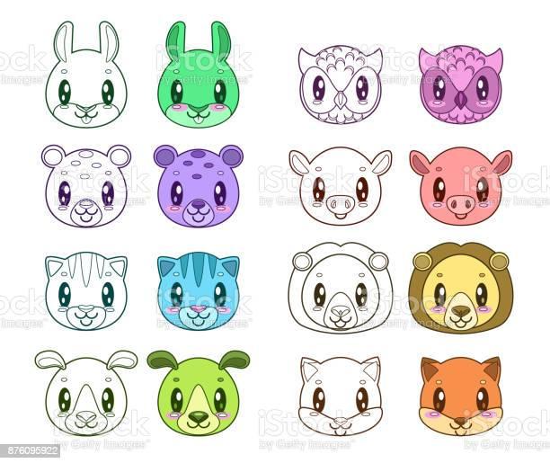 Funny animal faces vector id876095922?b=1&k=6&m=876095922&s=612x612&h= vkn83mmrungtvcsxfz3lrou9edmbfzw rqrf9wopty=