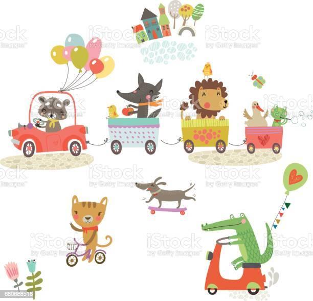 Funny animals cheerful walk vector id680688516?b=1&k=6&m=680688516&s=612x612&h=bleifx5mewewonz5xhbxwe8a8r7cs4hhtpxc ivzieo=