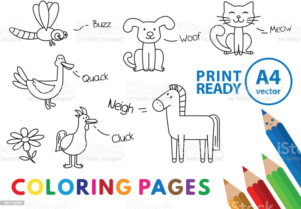 Funny Animals Coloring Book royalty-free funny animals coloring book stock vector art & more images of animal