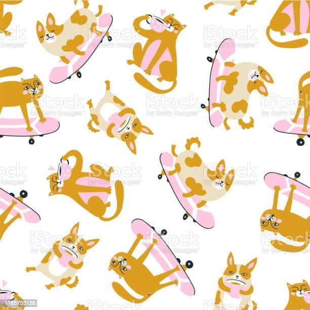 Funny animals drink coffee and ride a skateboard vector seamless vector id1165755158?b=1&k=6&m=1165755158&s=612x612&h=vmvwe4hf6vqassgc2pjfy agsa1kwgbm9ptdddxwquy=
