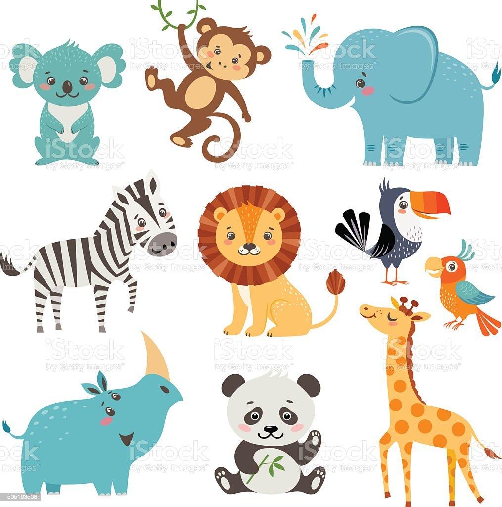 Drôle d'animaux - clipart vectoriel de Animaux à l'état sauvage libre de droits