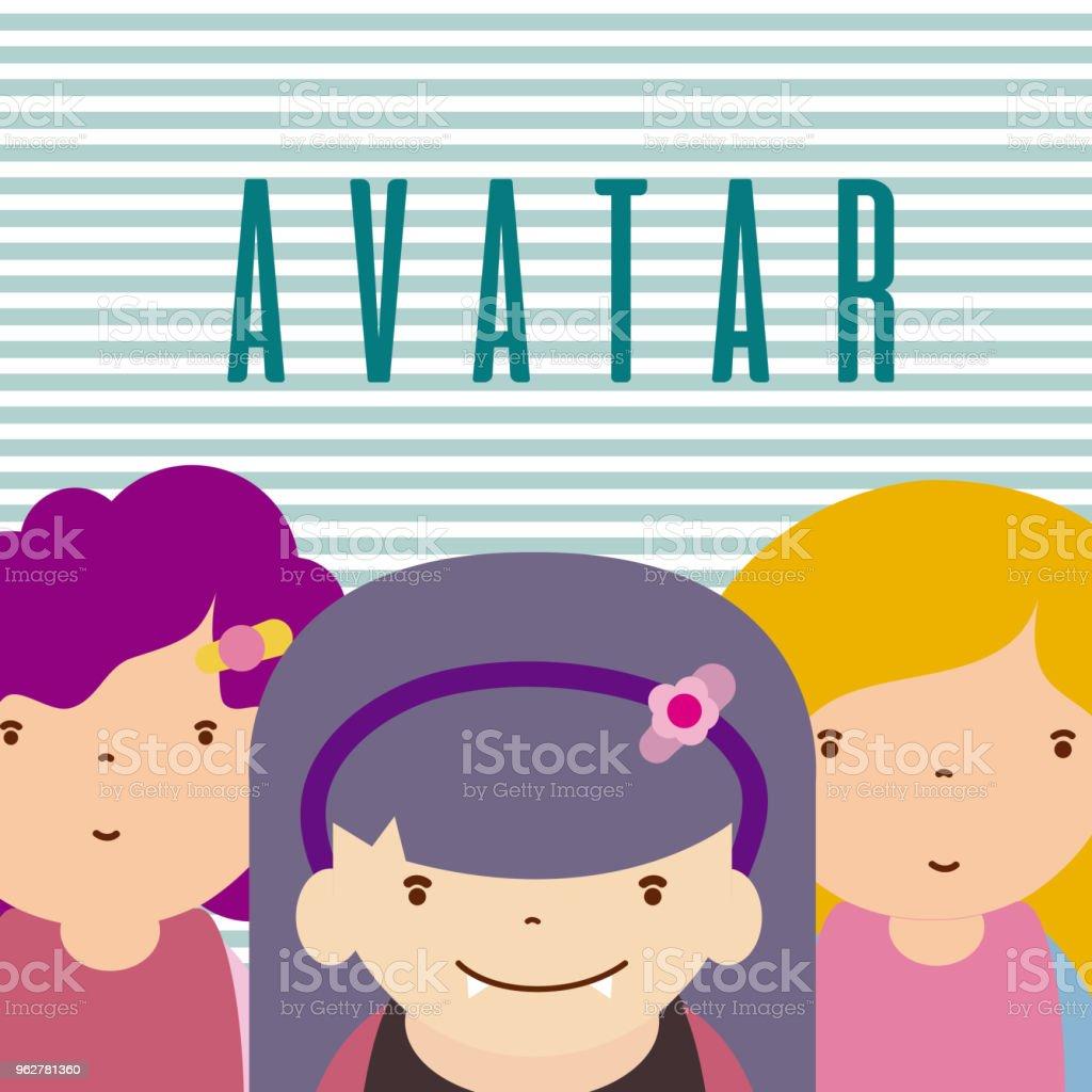 Desenhos animados engraçados avatar - Vetor de Alegoria royalty-free