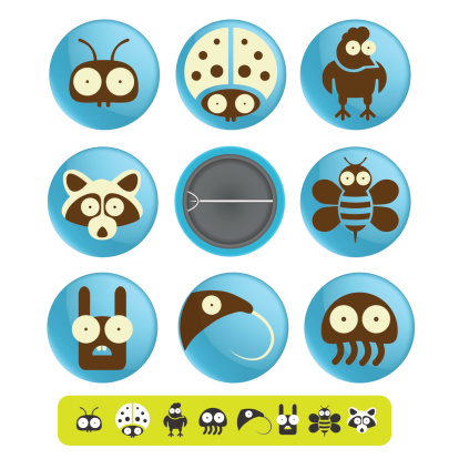 Funny badges and pins icon