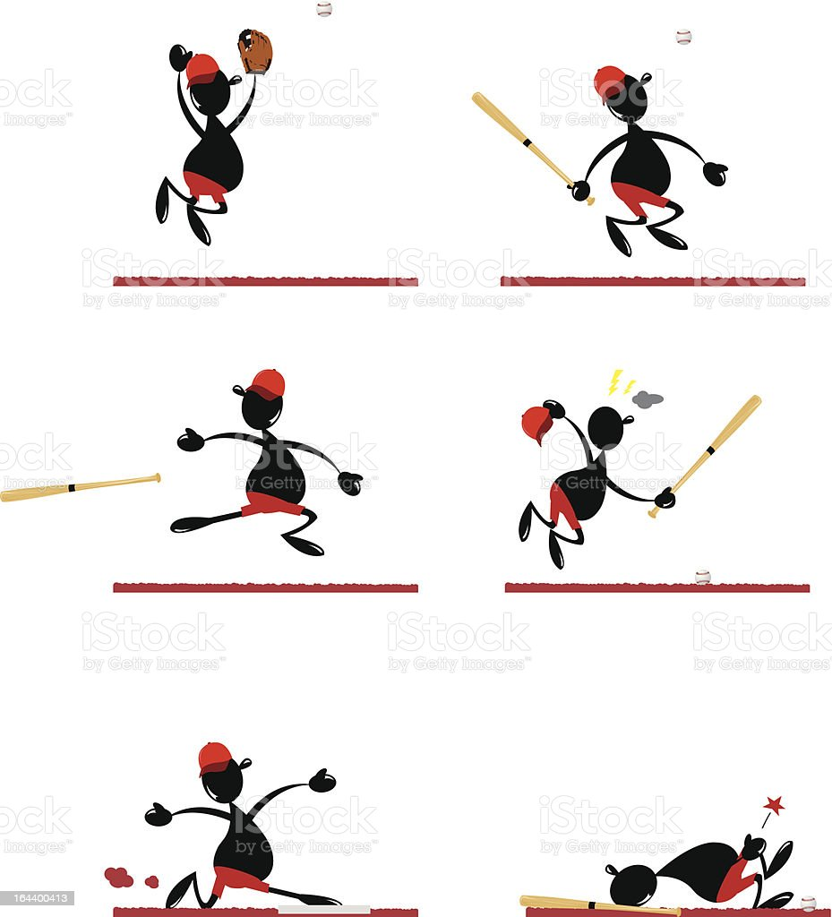 Funny Baseball Player royalty-free funny baseball player stock vector art & more images of activity