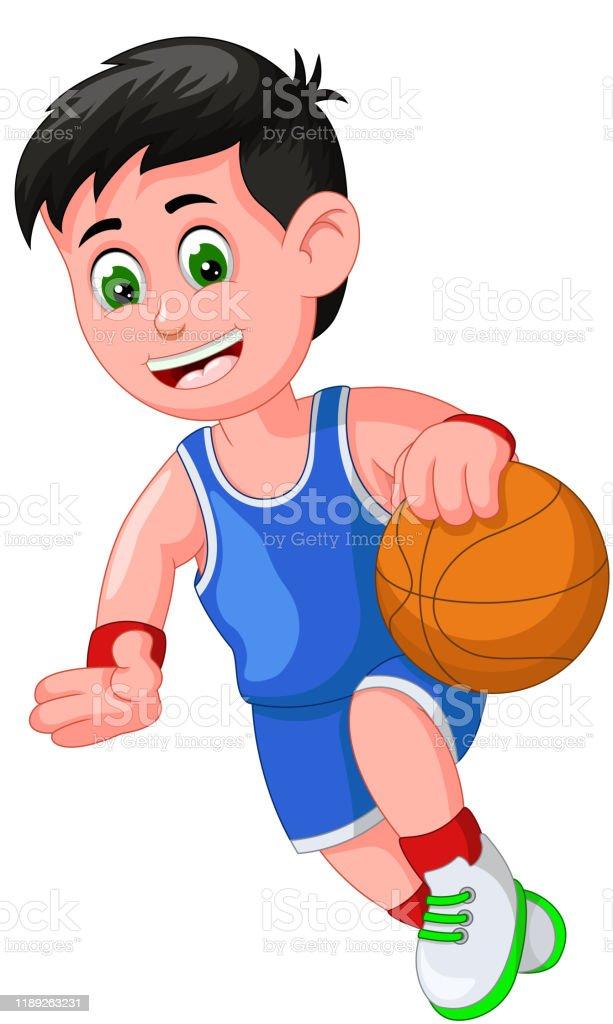 Funny Basketball Player Boy Cartoon Stock Illustration Download Image Now Istock