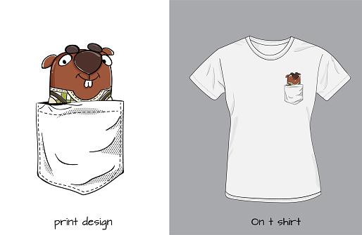 Funny beaver in my pocket.