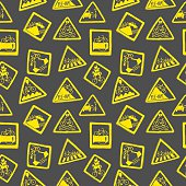 Funny bicycle road signs pattern