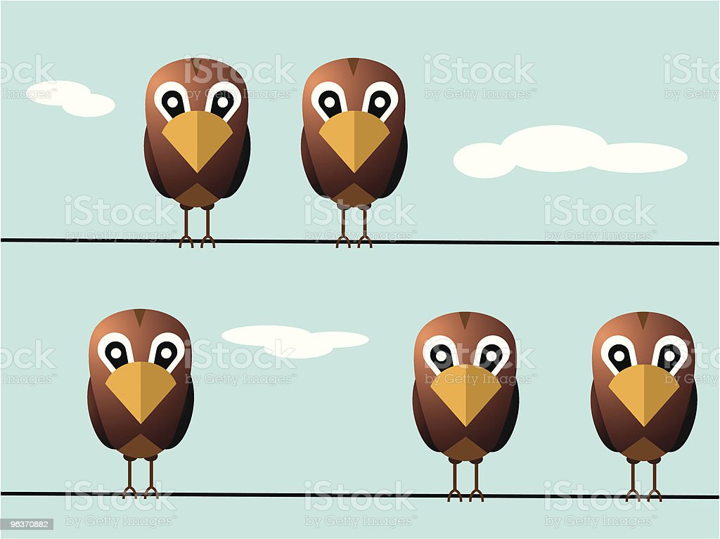 funny birds on wires royalty-free funny birds on wires stock vector art & more images of animal wing