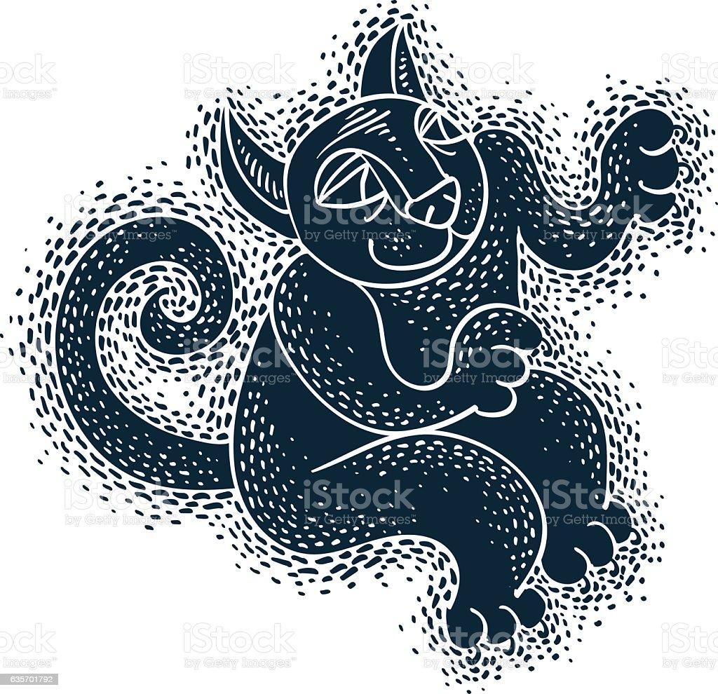 Funny black cat illustration for use in graphic design royalty-free funny black cat illustration for use in graphic design stock vector art & more images of alien