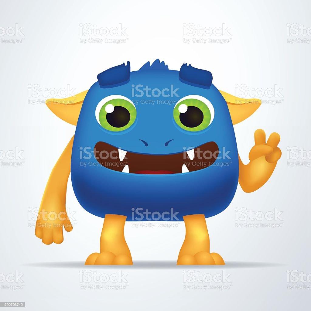 Vetores De Desenhos Animados Engracados De Azul E Amarelo Alienigena Monstro Criatura Com Personagem E Mais Imagens De Alienigena Istock