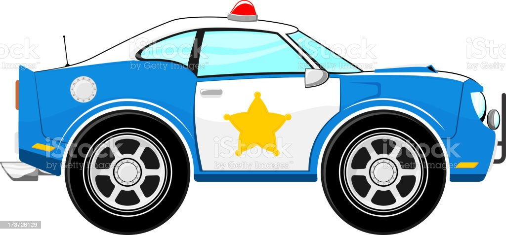 lustige blaue polizei auto comic stock vektor art und mehr bilder von auto 173728129 istock. Black Bedroom Furniture Sets. Home Design Ideas