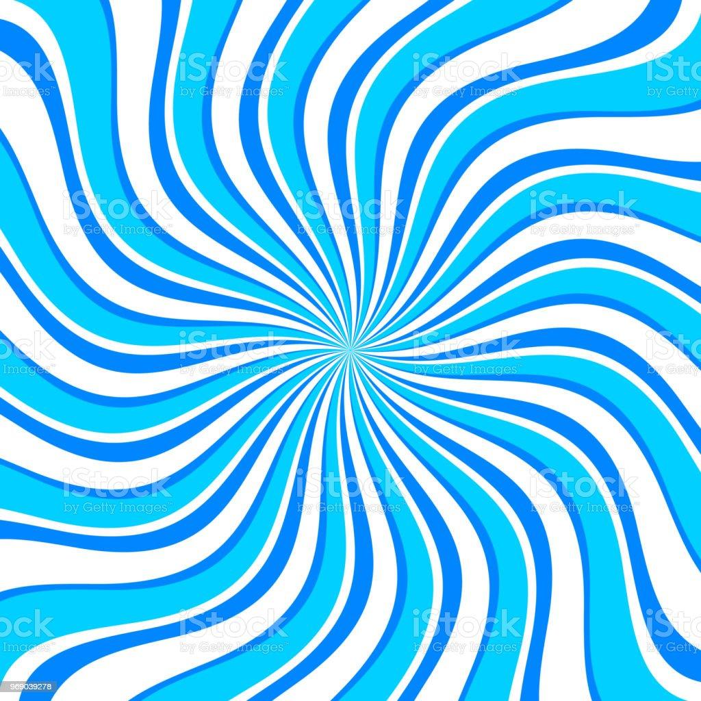 Funny Blue Swirl Radial Pattern Background Stock Illustration