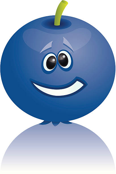 Royalty Free Cartoon Blueberry Clip Art, Vector Images ...