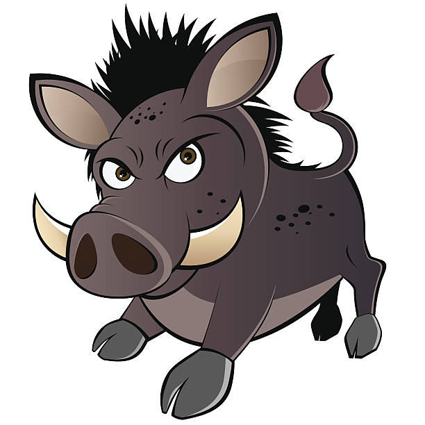 lustiger boar comic - pig ugly stock-grafiken, -clipart, -cartoons und -symbole