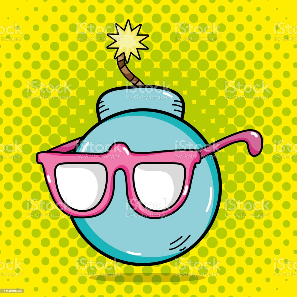 Funny bomb pop art royalty-free funny bomb pop art stock vector art & more images of art