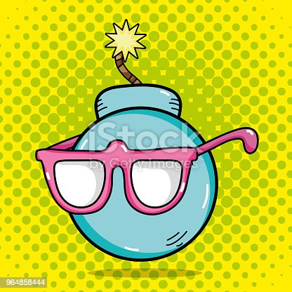 Funny Bomb Pop Art Stock Vector Art & More Images of Art 964858444