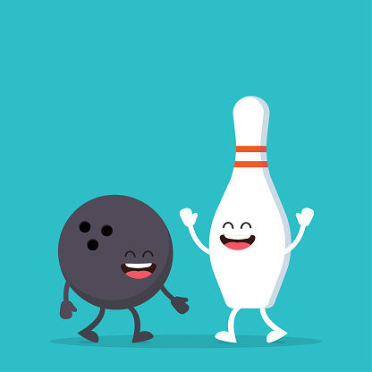 Funny Bowling ball and pin