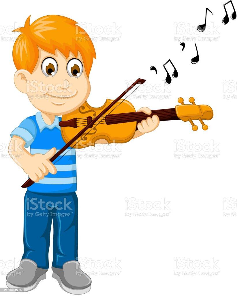 funny boy cartoon playing violin funny boy cartoon playing violin – cliparts vectoriels et plus d'images de arts culture et spectacles libre de droits