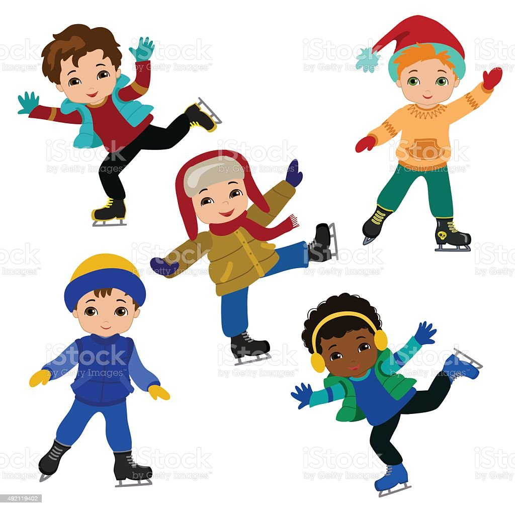 royalty free ice skating clip art vector images illustrations rh istockphoto com