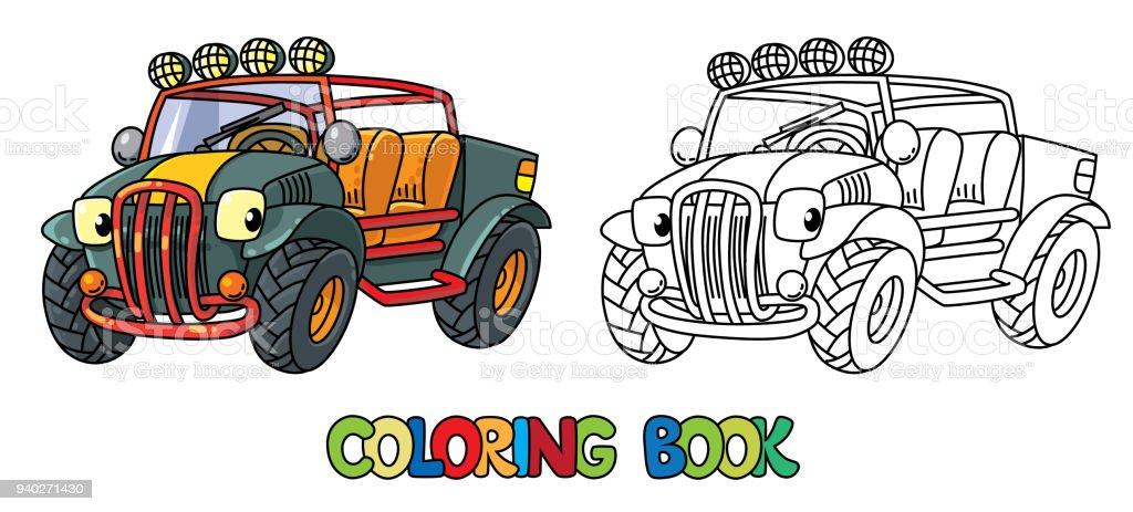 Funny Livre De Coloriage Voiture Ou Outroader Buggy Vecteurs