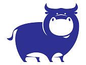 istock funny bull symbol 1269842568