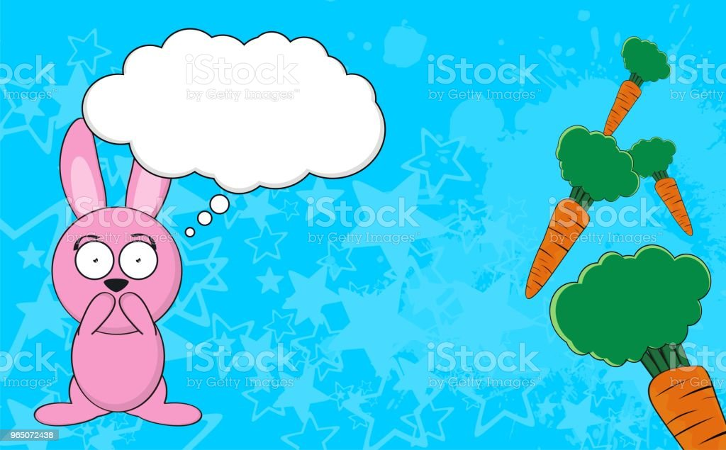 funny bunny cartoon expression background royalty-free funny bunny cartoon expression background stock vector art & more images of animal