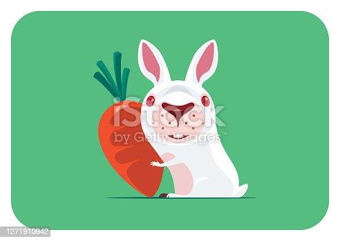 istock funny bunny holding carrot 1271910942