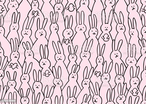 Funny bunny seamless pattern illustration of cute easter bunnies with vector id932439966?b=1&k=6&m=932439966&s=612x612&h=v3gz9d ksn2prr5nw6yy5zj2npnwqc7ubkcq icreyc=