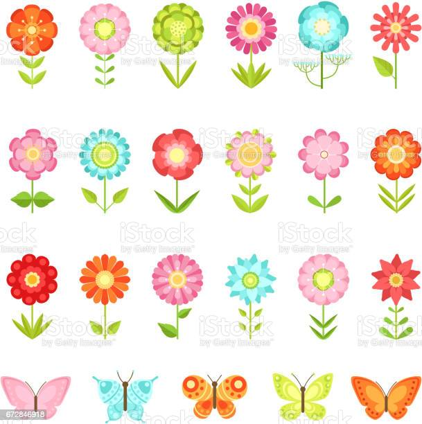 Funny butterfly on flowers in garden illustrations of natural flower vector id672846918?b=1&k=6&m=672846918&s=612x612&h=sla85bzikwdeeiurgjq9vogity55kbanxu7paaonpke=