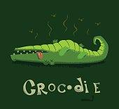 Funny card with a crocodile