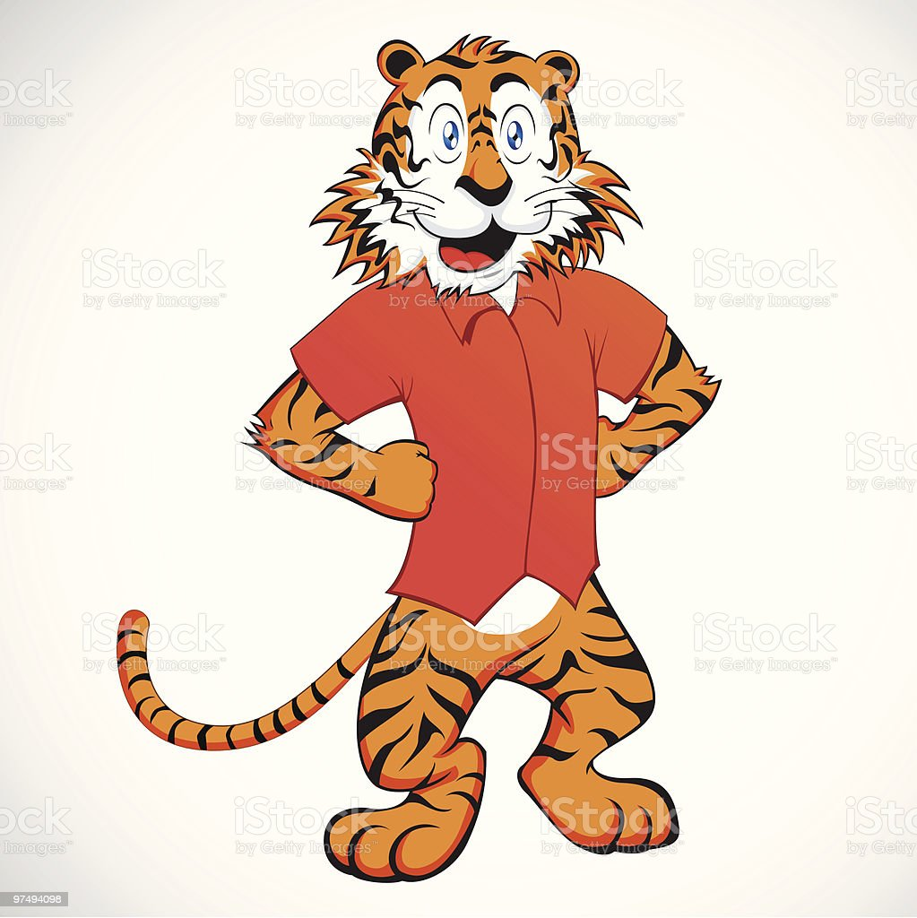 Funny Carton Tiger royalty-free funny carton tiger stock vector art & more images of animal