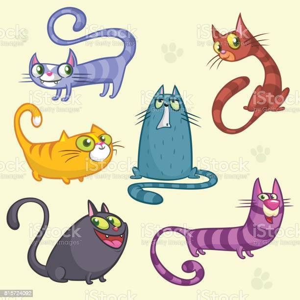 Funny cartoon and vector cats characters outlined vector set of cats vector id815724092?b=1&k=6&m=815724092&s=612x612&h=itksclzygcrvwbvat i kdnud 6bmgau ybgh0fivt4=