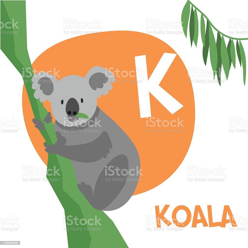 Ilustración de Animales Divertidos Dibujos Animados Vector Alfabeto ...