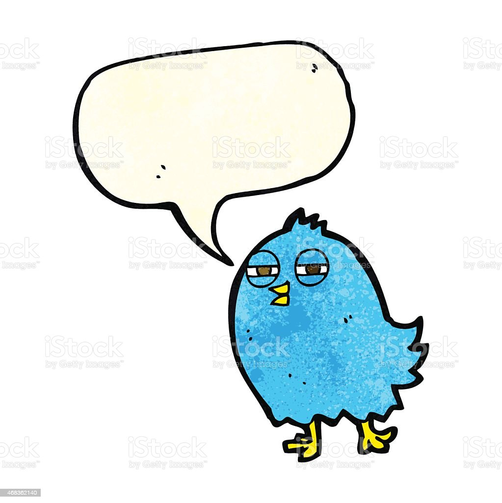 funny cartoon bird with speech bubble royalty-free funny cartoon bird with speech bubble stock vector art & more images of 2015
