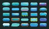 Funny cartoon blue long buttons