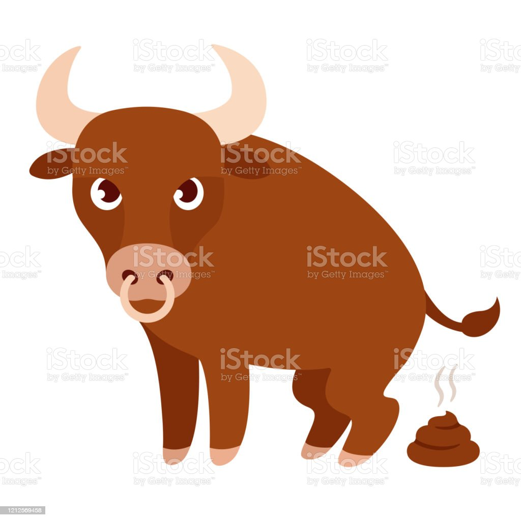 Funny Cartoon Bull Bullshit Stock Illustration - Download ...