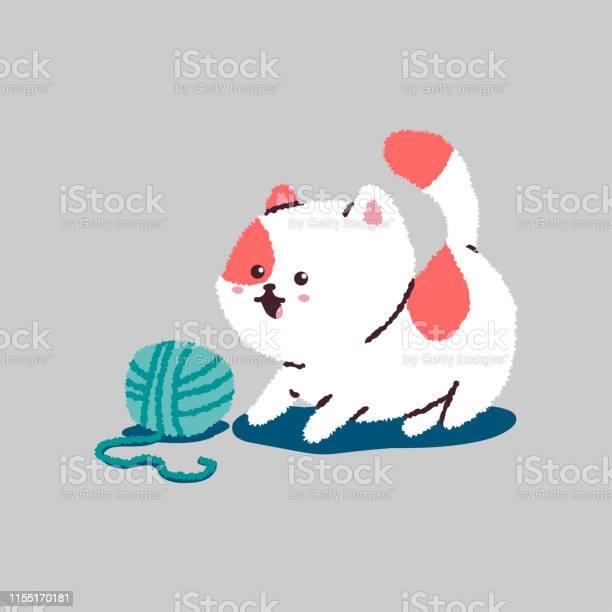 Funny cartoon cat playing with ball of thread vector pet character vector id1155170181?b=1&k=6&m=1155170181&s=612x612&h=q4hnyrtn3z2xbulczxtwgc0rhn4rlx9khmcdwmaunje=