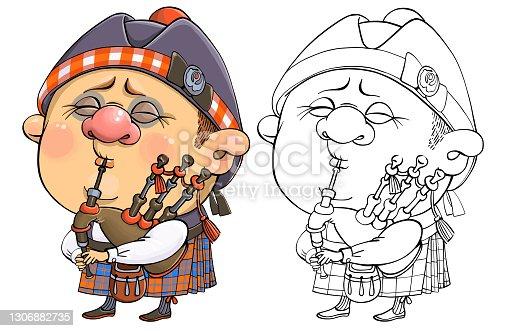 istock Funny cartoon character Briton 1306882735