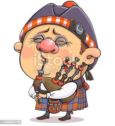 istock Funny cartoon character Briton 1306882736