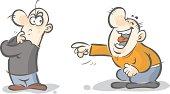Funny cartoon characters.