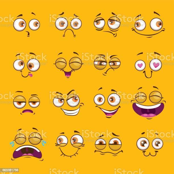 Funny cartoon comic faces on yellow background vector id665381756?b=1&k=6&m=665381756&s=612x612&h=logoyn9qgbriqq5ms yzn6twernnh54kxkyu hi8cey=